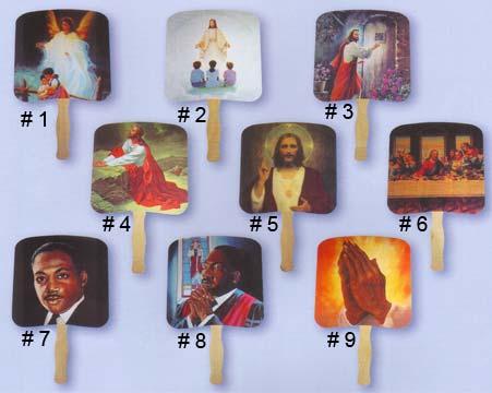 Religious Hand Fans Church Hand Fans Magnets 4 Less Com
